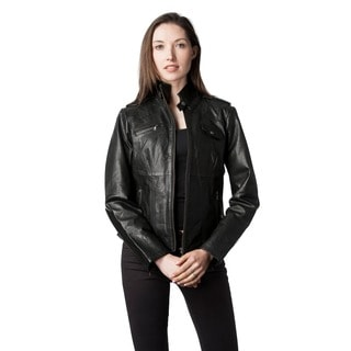 Christian Reed Italian Lambskin Leather Scuba Jacket