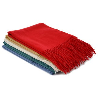 Luxury Classic Woven Cashmere Modal Blend Throw