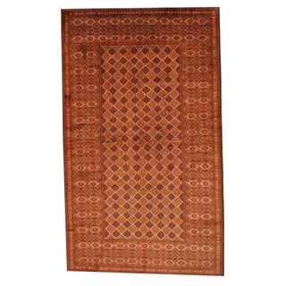 Herat Oriental Semi-antique Afghan Hand-knotted Tribal Balouchi Blue/ Brown Wool Rug (5'4 x 8'10)