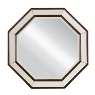 Hudson Street Cherry Octagonal Mirror
