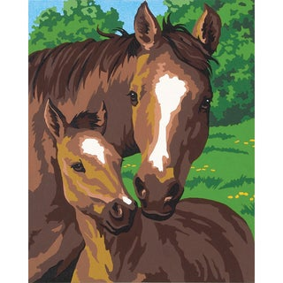 """Paint Works Paint By Number Kit 8""""X10""""-Pony & Mother"""