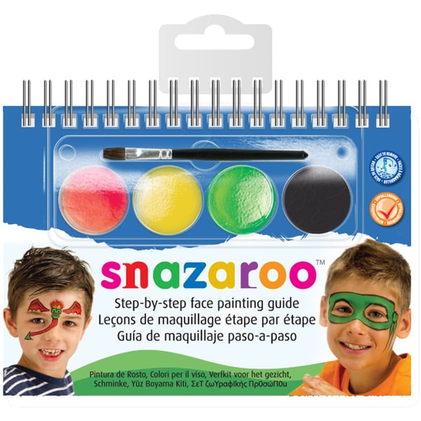 Snazaroo Step-By-Step Face Painting Kit-Monsters & Heroes