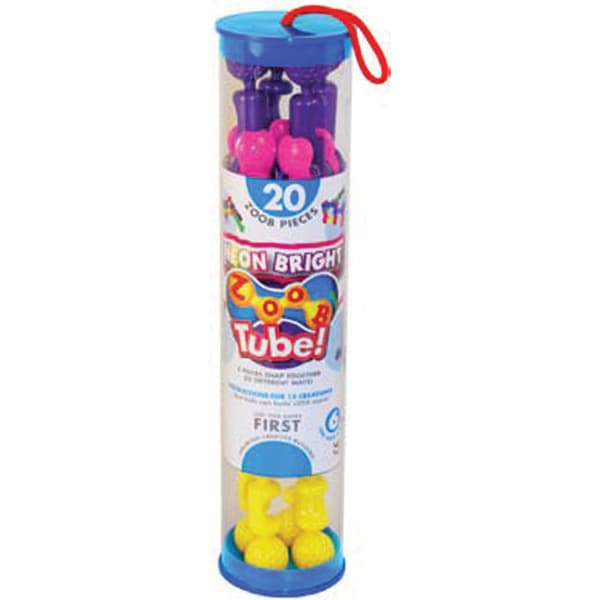 ZOOB Tube Set 20pc-Neon
