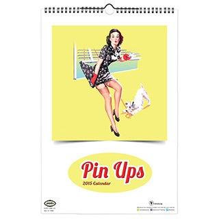 2015 'Pin Ups' Art Deluxe Wall Calendar