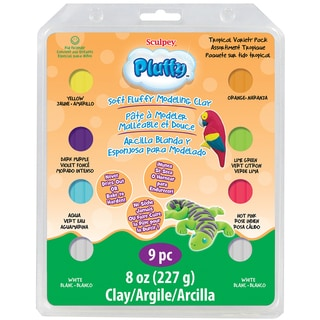 Sculpey Pluffy Clay Variety Packs-Tropical