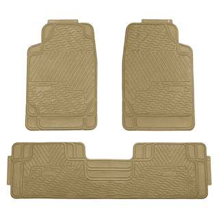 FH Group Beige All-weather Rubber Full Set Car Floor Mats