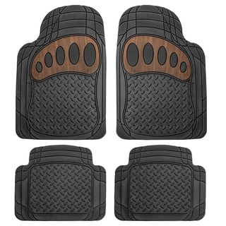 FH Group Black Rubber Liners Full Set Auto Trimmable Floor Mats
