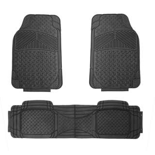 FH Group Black Rubber Full Set Auto Floor Mats