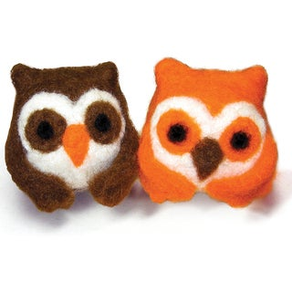 Feltworks Ball Owls Learn Needle Felting Kit