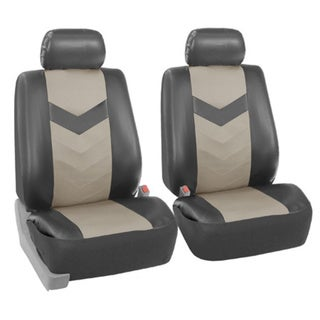 FH Group Grey Synthetic Leather Car Seat Covers (Full Set) 14431800