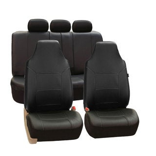 FH Group Black Premium Leatherette Auto Seat Covers (Full Set)
