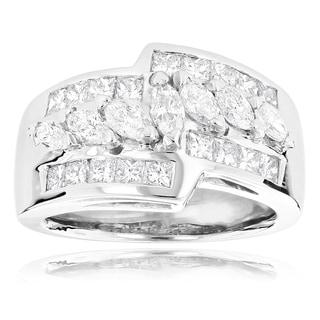 14k White Gold 1 7/8ct TDW Diamond Ring (H-I, SI1-SI2)