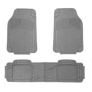 FH Group Grey Rubber Full Set Auto Trimmable Floor Mats