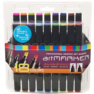 Pro Art Graphic Marker Set 18/Pkg