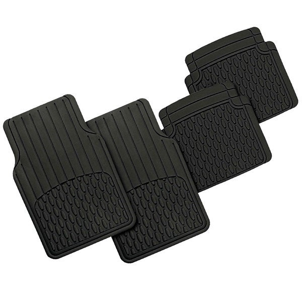 FH Group Black Heavy Duty Rubber Full Set Floor Mats