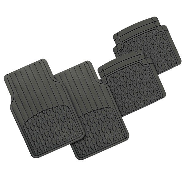 FH Group Grey Heavy Duty Rubber Full Set Floor Mats