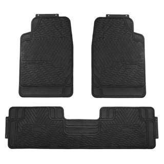FH Group Black All-weather Rubber Full Set Car Floor Mats