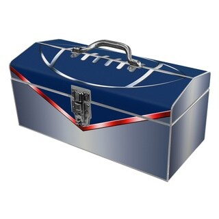 Football Fanatic Blue Steel Tool Box
