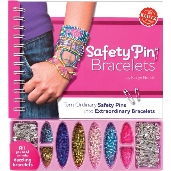 Safety Pin Bracelets Book Kit
