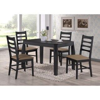K&B Black Dining Chair (Set of 2)