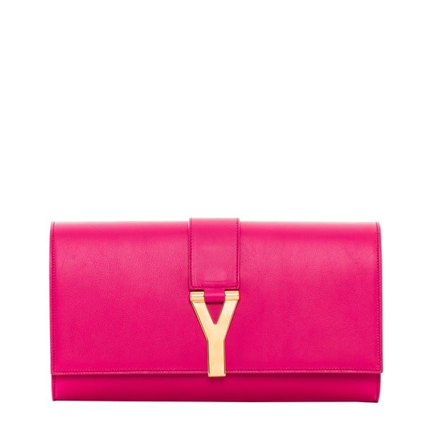 Saint Laurent Fuchsia Y Clutch