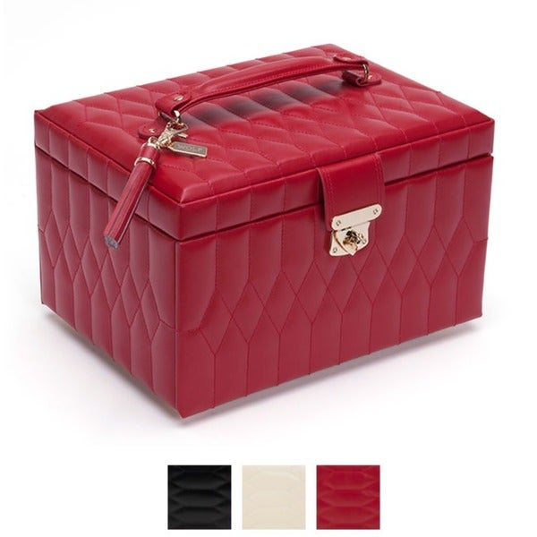 WOLF Caroline Leather Medium Jewelry Box