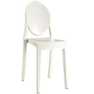 Burton Ghost Style Ivory White Side Chair (Set of 2)