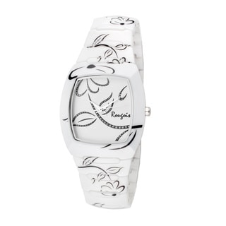 Rougois Women's Bloom Series White Ceramic Watch