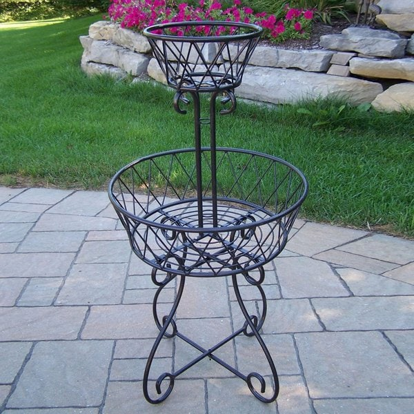 2-tier Cast Iron Basket Planter