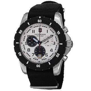 Swiss Army Men's V241680.1 'Maverick' Silver Dial Black Nato Strap Chronograph Quartz Watch