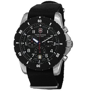 Swiss Army Men's V241678.1 'Maverick' Black Dial Black Nato Strap Chronograph Quartz Watch