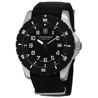 Swiss Army Men's V241674.1 'Maverick' Black Dial Black Nato Strap Date Quartz Watch