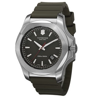 Swiss Army Men's V241683.1 'Inox' Green Dial Green Rubber Strap Automatic Watch