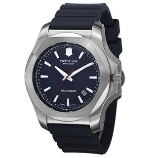 Swiss Army Men's V241688.1 'Inox' Blue Dial Blue Rubber Strap Automatic Watch