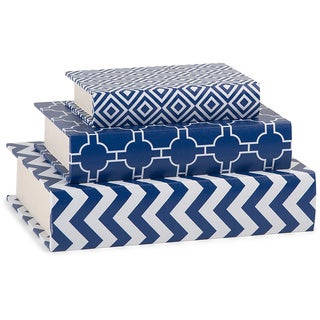 Essentials Book Boxes - Navy