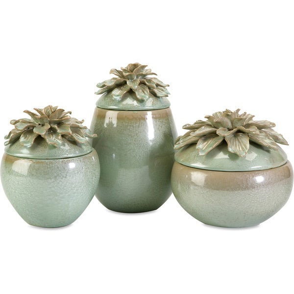 Tilly Floral Lidded Vases (Set of 3)