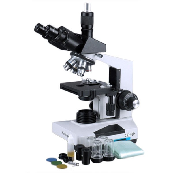 40X-2000X Lab Clinic Veterinary Trinocular Microscope with Digital Camera