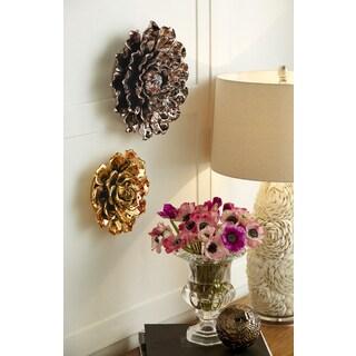 Metallic Large Ceramic Wall Flower
