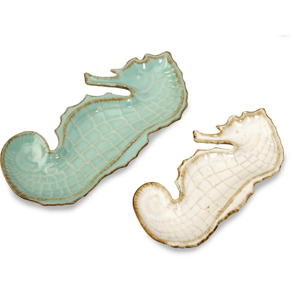 Seahorse Decorative Plates (Set of 2)