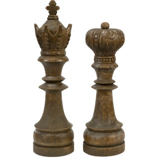 Windham Hand-carved Wood Chess Pieces (Set of 2)