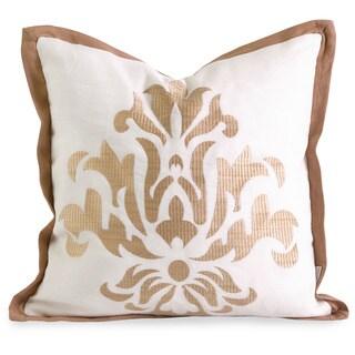 Iffat Khan Kassa Down Filled Embroidered Throw Pillow
