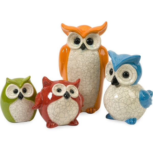 Imax Enchanted Owls (Set of 4)
