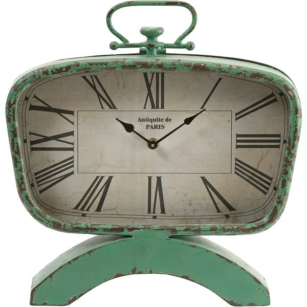 Imax Green Retro Clock