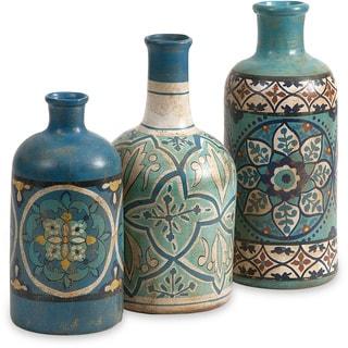 Kabir Hand Painted Bottles (Set of 3)