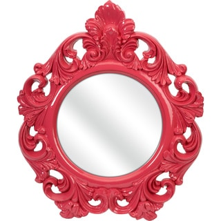 Imax Finely Pink Baroque Wall Mirror
