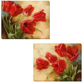 Igor Levashov 'Garden in Holland I and II' 2-piece Canvas Set