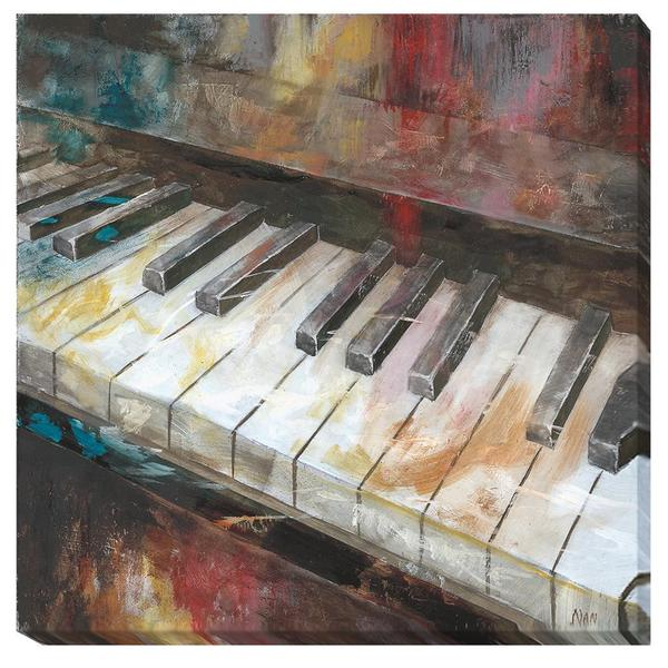 Nan 'My Piano' Canvas Art