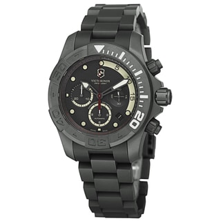 Swiss Army Men's V241660 'Dive Master' Grey Dial Titanium Bracelet Limited Edition Chronograph Watch