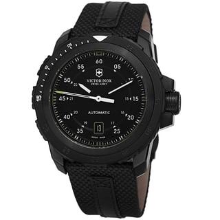Swiss Army Men's V241685 'Alpnach' Black Dial Black Fabric Strap Mechanical Watch
