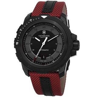 Swiss Army Men's V241686 'Alpnach' Black Dial Red Fabric Strap Mechanical Watch